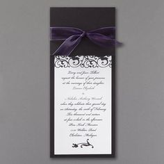 Wrapped in Purple Chiffon - Invitation. Available at Persnickety Invitation Studio.