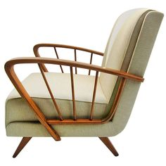 Anonymous; Ashwood Lounge Chair, 1950s.