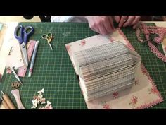 Book folding birdcage decorating process - YouTube