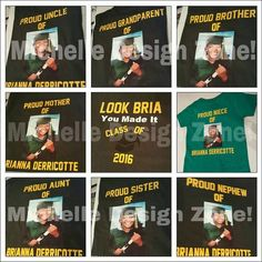Graduation Shirts For Family, Senior Shirts, Graduation Party Themes, Graduation Ideas, Kid Names, 2017 Ideas, Celebration, Etsy, Cricut
