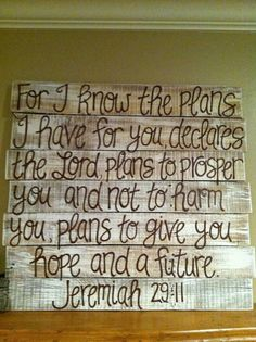 Wood Pallet Art Bible Verse Series by HollysHobbiesTN on Etsy