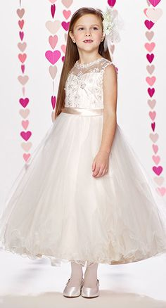 b581404ddaaf 217372 by Mon Cheri Joan calabrese flower girl dresses. Designer First  Communion Dresses, Designer