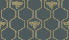 Honey Bees Gold wallpaper by Barneby Gates