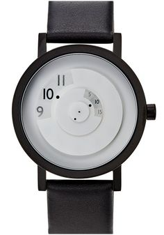 The Projects Reveal White 40mm Leather Watch now available from the Web's Best Modern Watch store Watches.com