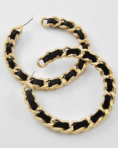 Black And Gold Hoops from Picsity.com