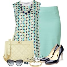 """""""Minty Skirt"""" by imclaudia-1 on Polyvore"""