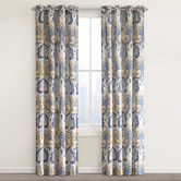 The attractive Echo Design Jaipur Grommet Top Window Curtain Panel features an updated, paisley-print design on a textured cotton. The panel hangs on stylish grommets and quickly livens up any room. Paisley Curtains, Cotton Curtains, Grommet Curtains, Curtain Fabric, Drapes Curtains, Curtain Panels, Drapery, Yellow Curtains, Bathroom Curtains