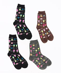 Another great find on #zulily! Black & Brown Coffee Socks Set by Soxland #zulilyfinds