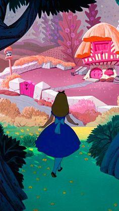 Wallpaper Backgrounds Disney Alice In Wonderland 44 Super Ideas Cartoon Wallpaper, Wallpaper Iphone Disney, Cute Disney Wallpaper, Retro Disney, Vintage Disney, Disney Art, Walt Disney, Alice Disney, Disney Pixar