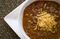 Chili Recipe (slow cooker)
