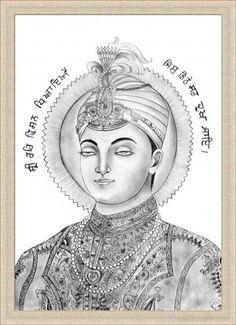 #SikhArt  Beautiful Pencil Sketch of Shri Har Krishan Sahib Ji  Share & Spread!