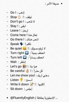 English Language Course, English Language Learning, Teaching English, Learn English Words, English Study, English Lessons, Learn Arabic Alphabet, Arabic Phrases, Arabic Sentences
