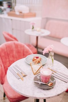 Pink Places in London: A New Pink Café called Feya. Photos by Pink Inspo