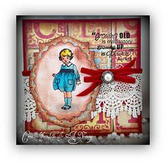Love the colors of this darling card - made with a digital stamp!