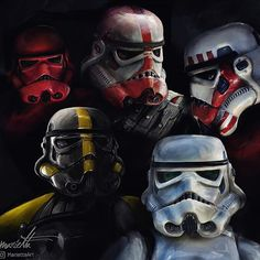 An (incomplete) set of Stormtroopers that partake in different fields of duty. From the top, left to Stormtrooper Art, Imperial Stormtrooper, Star Wars Pictures, Star Wars Images, Imperial Legion, Woodland Elf, Star Wars Jedi, Star Trek, Star Wars Wallpaper