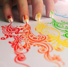 This looks so cool!!! I love how it looks like the nails are drawing:)❤️