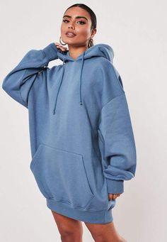oversized hoodie Missguided Blue Lamour G - hoodies Sweaters And Leggings, Sweater Hoodie, Blue Hoodie, Hoody, Winter Fashion Outfits, Sweater Fashion, Oversized Hoodie Outfit, Stylish Hoodies, Comfy Hoodies