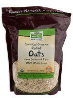NOW Foods Real Food Certified Organic Rolled Oats -- 24 oz $3.59 (10% OFF)