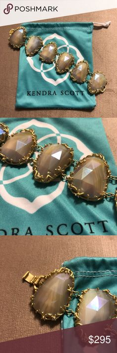 Kendra Scott Luxe Stone Nest Link Bracelet Kendra Scott Luxe Stone Nest Link Bracelet in Iridescent Agate. Only been worn a handful of times. In excellent condition. Kendra Scott Jewelry Bracelets