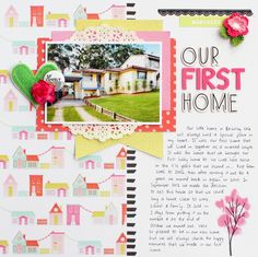 Our First Home | Charms Creations Guest Designer | Dear Lizzy Fine and Dandy patterned papers | Charms Creations & D-lish Scraps embellishments