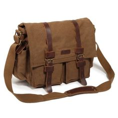 Kattee Vintage Military Style Canvas and...