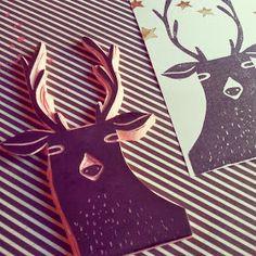 Diario de Loneta: Sello reno / stamp reindeer
