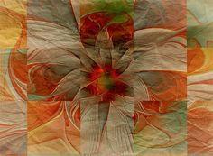 gazania fractal | Crumpled Paper - fractal art by Amanda Moore Fractals In Nature, Crumpled Paper, New Media Art, Fractal Art, Medium Art, Mind Blown, Amanda, Digital Art, Graphic Design