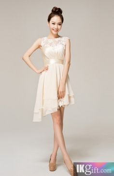 I like this - Scoop Knee-length Chiffon Lace Wedding Party / Bridesmaid Dress. Do you think I should buy it?