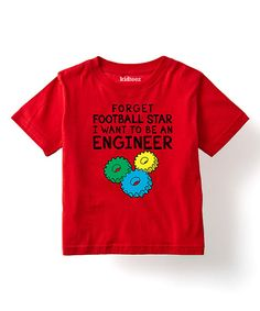 Look at this Geek Garb Red 'I Want to Be an Engineer' Tee - Toddler & Boys on #zulily today!