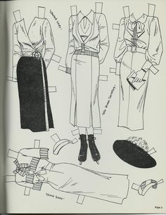Jean Harlow paper doll clothes / eBay