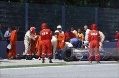 Formula 1/ accident of Ayrton Senna in Imola, Italy on May 01, 1994-Ayrton Senna's fatal and tragic crash.