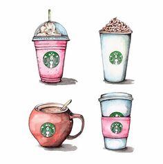 Starbucks Love 10x10 Giclee print by StudioSocky on Etsy
