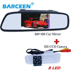 "High night vision car rear view camera with hd lcd 4.3"" car parking mirror fit for  KIA K2 Rio Sedan"