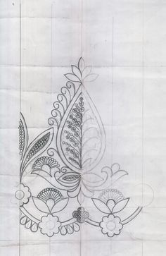 Border Embroidery, Hand Work Embroidery, Folk Embroidery, Bead Embroidery Jewelry, Embroidery Transfers, Learn Embroidery, Embroidery For Beginners, Embroidery Techniques, Embroidery Patterns