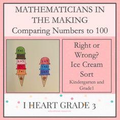 Mathematicians in the Making: Right or Wrong Ice Cream Sort Creative Teaching, Teaching Math, Math Math, Math Fractions, Math Games, Special Education Classroom, Math Education, Elementary Education, Third Grade Math