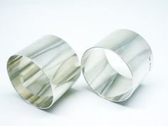 Pair Solid Silver Napkin Rings Sterling SCOTTISH by DartSilverLtd