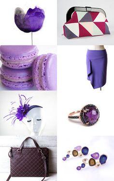 Purple Fiction by Mandarina on Etsy--Pinned with TreasuryPin.com