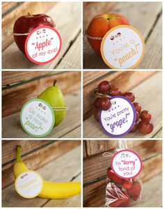 Lunch Box Fruit Notes (FREE Printable) - Surprise the kiddos with a cute little note tied to their fruit!