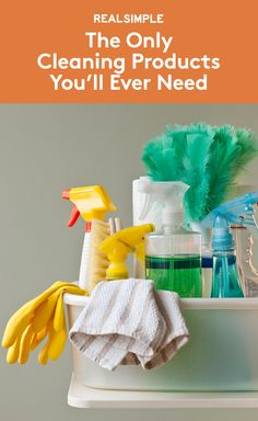 The Only Cleaning Products You'll Ever Need   Ever wonder exactly what the pros use to get rooms to sparkle? Pick up these favorites of Merry Maids, the national house-cleaning company, to amass the ultimate cleaning kit.