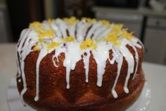 lemon bundt cake lemon zest on top
