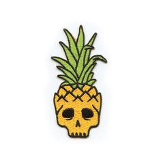 """Mysterious tropical islands can be a nice get away if you're looking for a permanent vacation. Patch by Mean Folk. 2""""x3.75"""". Embroidered, iron on backing."""