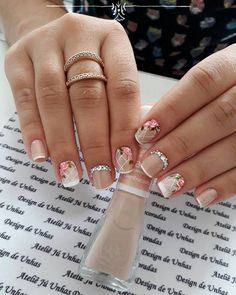 Learn something new and create unique spring nail designs in 2020 ❤ Find the great nail art ideas for spring ❤ See more at LadyLife Great Nails, Fabulous Nails, Simple Nails, Love Nails, Spring Nail Art, Nail Designs Spring, Spring Nails, Nail Art Designs, Bride Nails