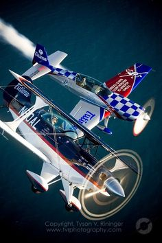 aerobatic certified, modified aircraft, each has over 300 horse power.