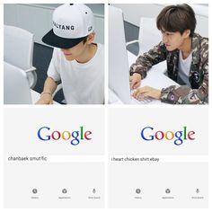 Chanyeol and Baekhyun I think? Correct me if Im wrong Exo Chanbaek, Kim Minseok, Exo Ot12, Kyungsoo, Chanyeol, K Meme, Exo Memes, Oppa Gangnam Style, Exo Facts