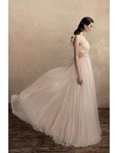 Rückenfrei Kolumne Sexy Elegante Brautkleider aus Chiffon