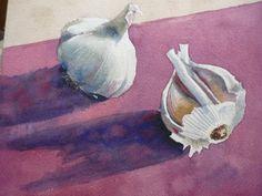 Garlic Bulbs (watercolour)