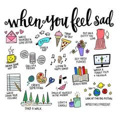Self care doodles, bullet journal The Words, Feeling Sad, How Are You Feeling, Feeling Down, Not Feeling Well, Vie Motivation, Self Care Activities, Coping Skills, Bullet Journal Inspiration