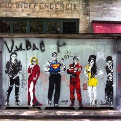 Street art in Sao Paulo, Brazil by Guiles.