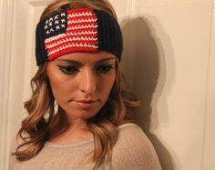 Winter Olympics American flag headband team by HandmadeByLilianaa, $25.00