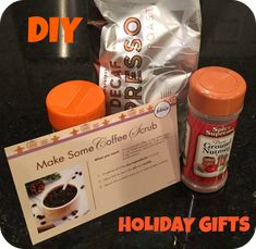 DIY Coffee Scrub Recipe - courtesy of #FebrezeHoliday. Quick and easy holiday gifts! #sponsored